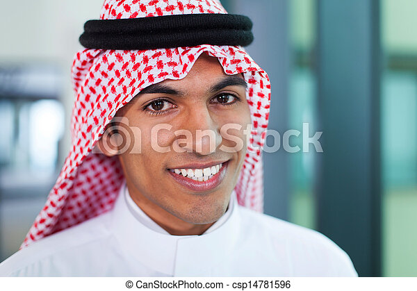 middle eastern corporate worker in office