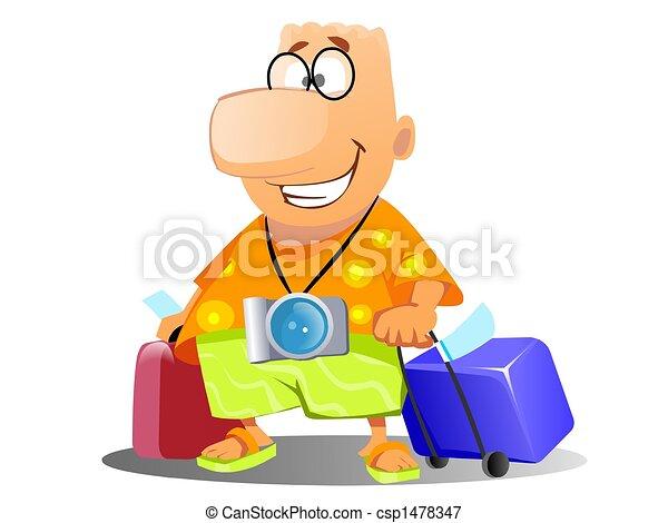 tourist on vacation - csp1478347