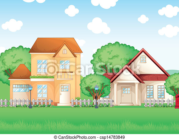 Two big houses - csp14783849