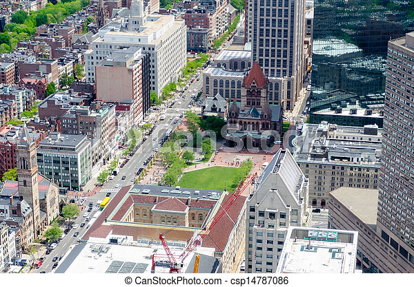 Aerial View of Copley Square, Boston - csp14787086
