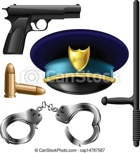 Police items set - csp14787587