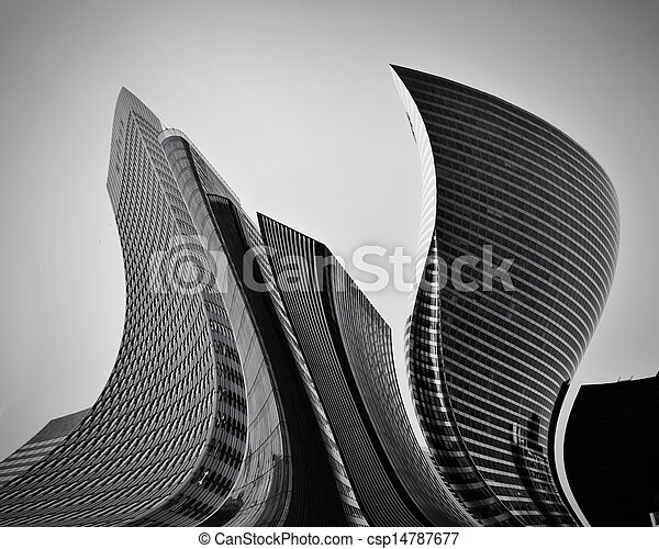 begreppsmässig, abstrakt, Skyskrapor, affär, arkitektur - csp14787677