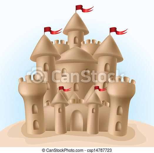 Sandburg clipart  Sandcastle Illustrations and Stock Art. 736 Sandcastle ...