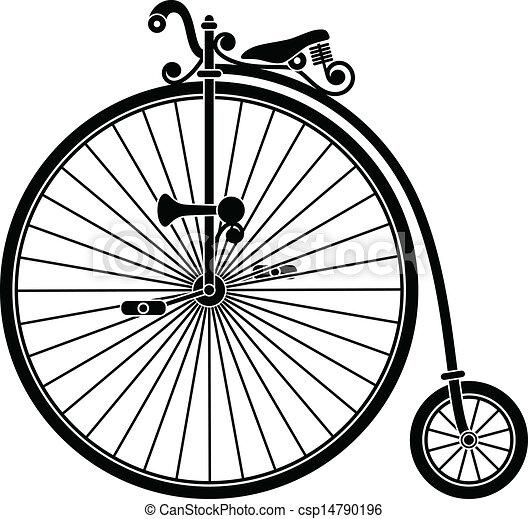 Old-Fashioned Bicycle Big Wheel