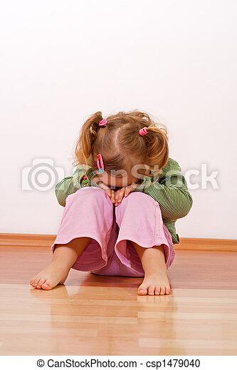 Unhappy baby girl - csp1479040
