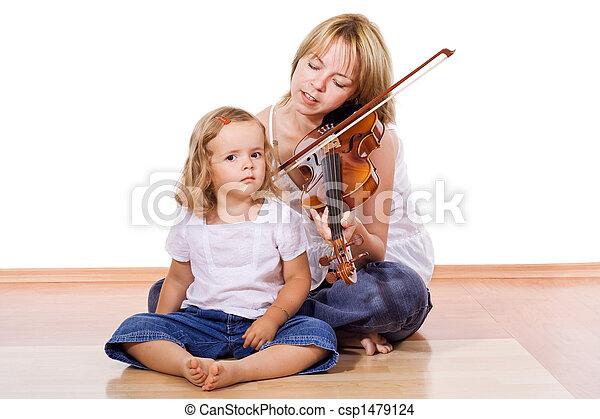 Enjoying the music - csp1479124