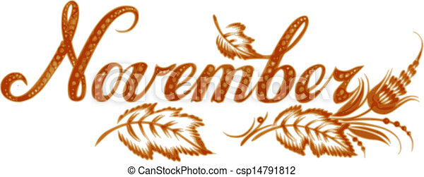Vector Clip Art Of November The Name Of The Month