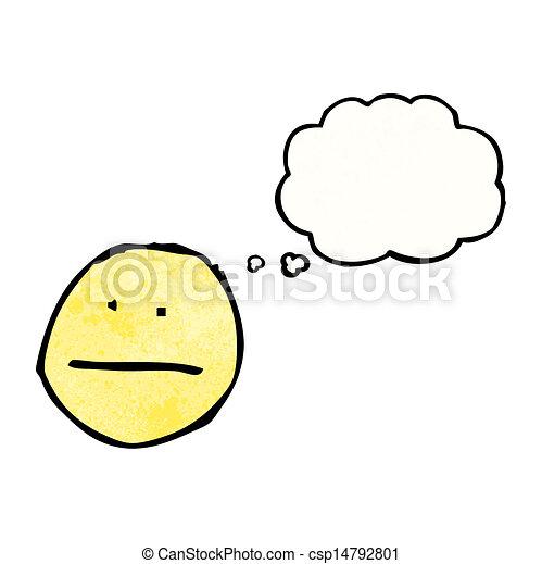 Faces Vector Art Vector Cartoon Thinking Face