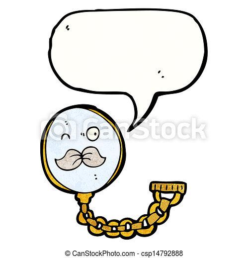 monocle cartoon character - csp14792888