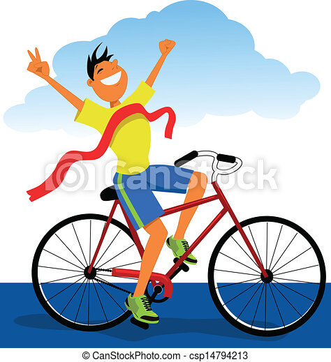 Winner on a bicycle - csp14794213