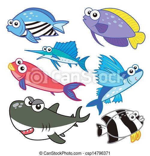 Sea Creatures Cartoon Cartoon Sea an