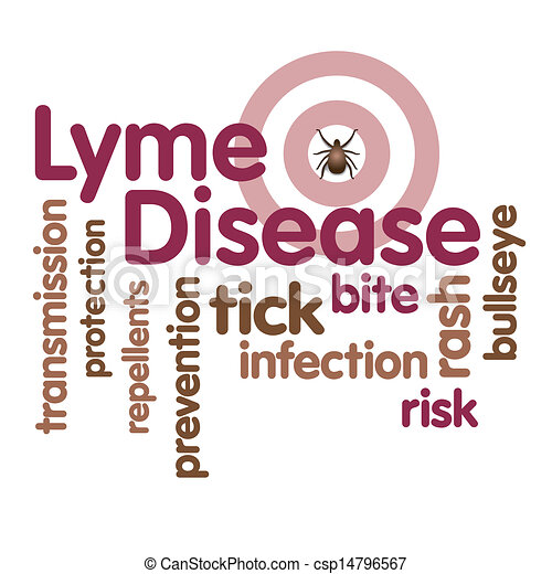 Lyme Disease, Tick, Word Cloud - Royalty Free Vector Clipart - csp14796567
