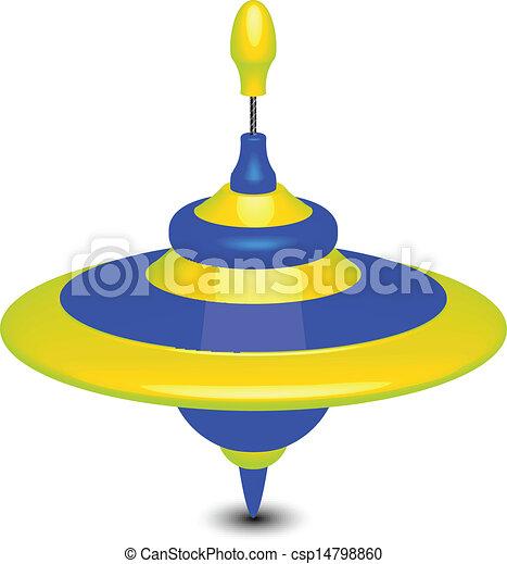Vector illustration of humming-top - csp14798860