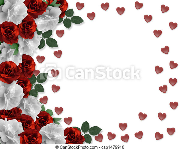 Valentines Day Hearts and Roses - csp1479910