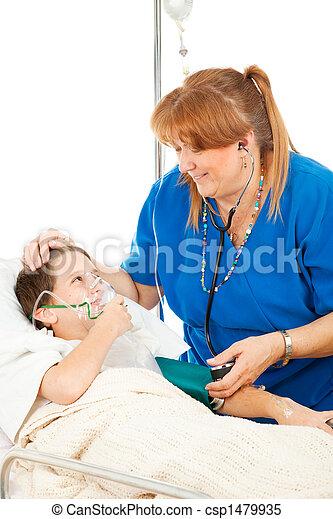 Friendly Nurse and Child - csp1479935