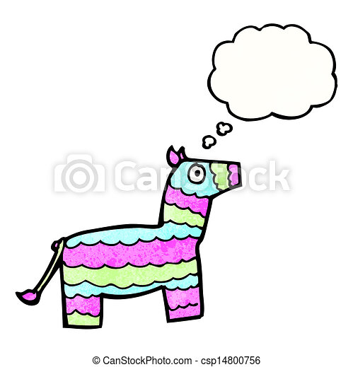 Clipart Vector of cartoon pinata with thought bubble csp14800756 ...
