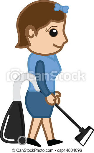 Girl Holding Vacuum Cleaner Vector 14804096 on English Style House Plans