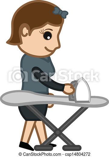 Ilustraciones vectoriales de planchado ni a vector ropa - Planchado de ropa ...