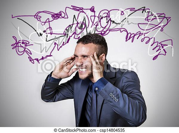 stressed man - csp14804535