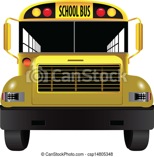 EPS Vector of School bus front - A vehicle for ...