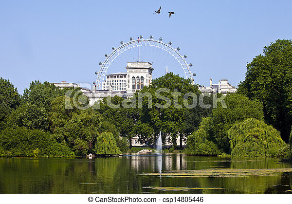View from St. James's Park in London - csp14805446