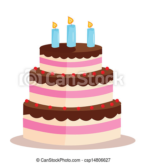 Sweet cake for birthday holiday - csp14806627