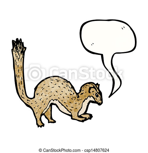 Illustration vecteur de dessin anim belette csp14807624 - Dessin de belette ...