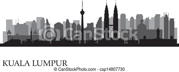 Kuala Lumpur city skyline - csp14807730