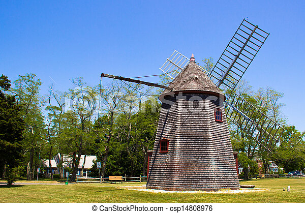 Historic Eastham Windmill in Cape Cod - csp14808976