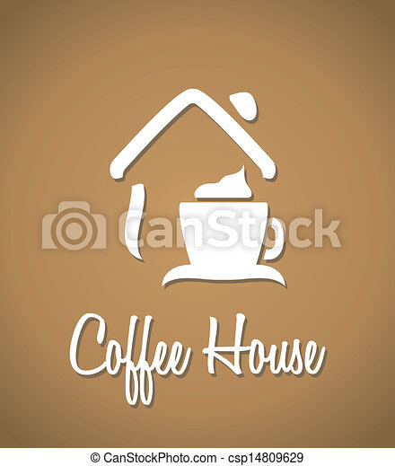 Vector Illustration of Coffee house icon - Coffee house icon ...