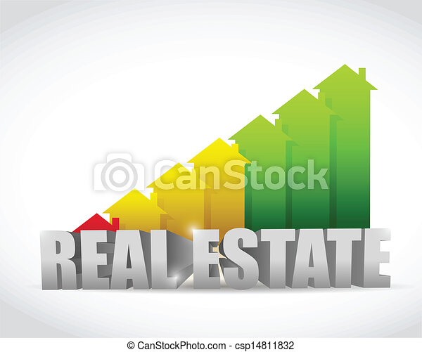 home colorful real estate house graph chart - csp14811832