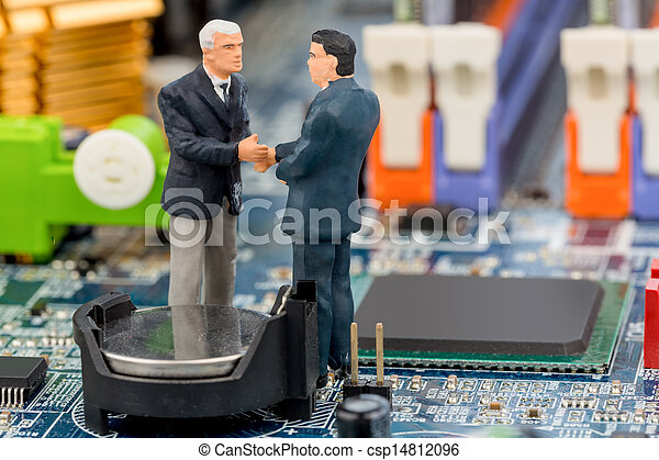 two managers on computer board - csp14812096