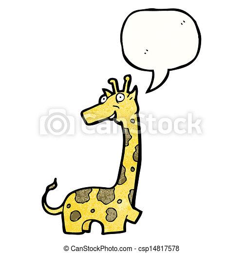 Illustrazioni vettoriali di cartone animato giraffa - Cartone animato giraffe immagini ...