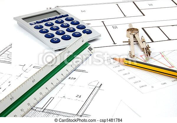 Planer, arkitektur - csp1481784