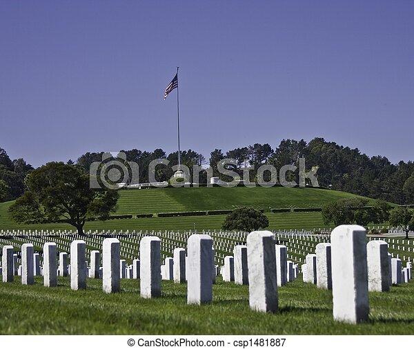 militärisk kyrkogård - csp1481887