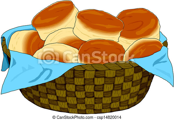 Bread Rolls Drawing Bread Basket Csp14820014