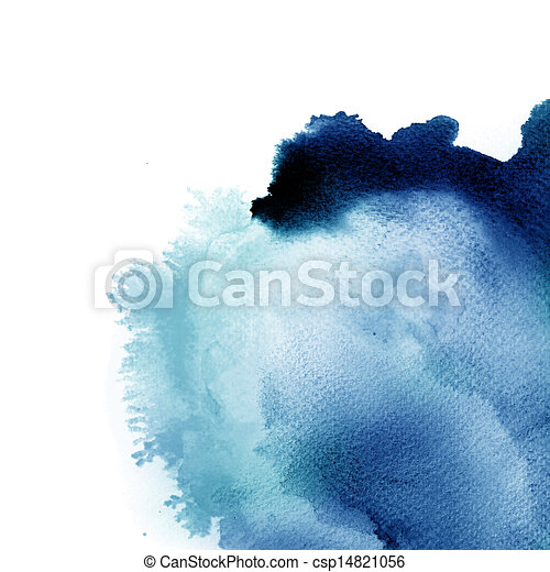 Abstract  watercolor hand painted background - csp14821056
