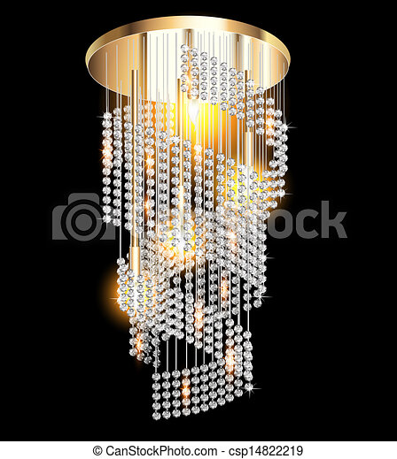 clip art vecteur de moderne lustre cristal pendentifs noir illustration csp14822219. Black Bedroom Furniture Sets. Home Design Ideas