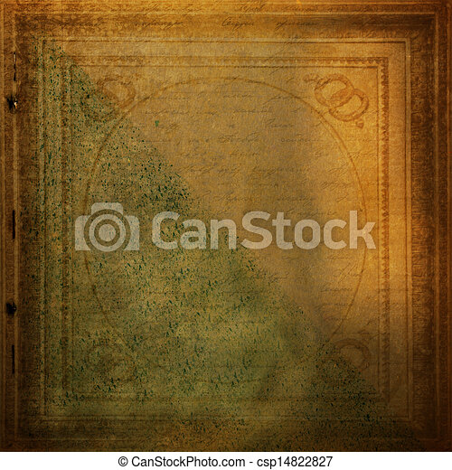 Grunge old paper design in scrapbooking style with handwriting - csp14822827