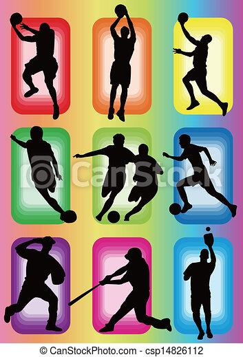sport basketball soccer baseball - csp14826112