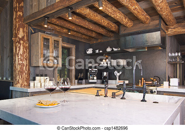 Rustic Cabin Kitchen - csp1482696