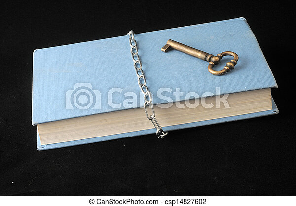 Secret book and chain with key
