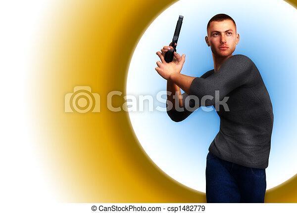 Undercover Cop With Gun 7 - csp1482779