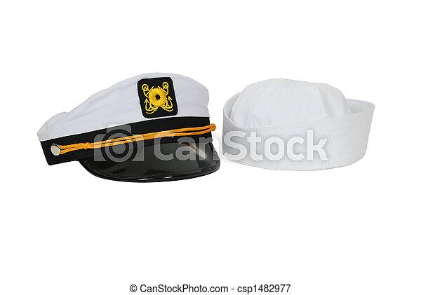 náutico, sombrero, marinero, gorra - csp1482977