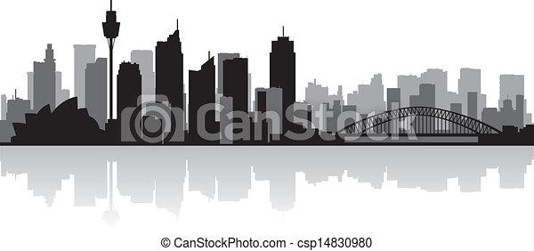 Sydney Australia city skyline vector silhouette - csp14830980