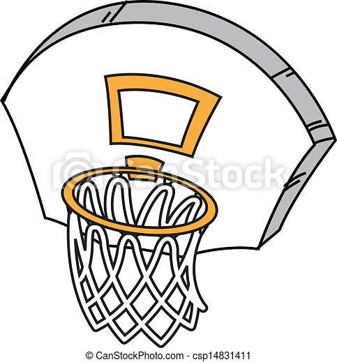 Basketball Net Vector Clipart