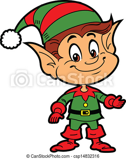 Line art eps picture pictures graphic graphics drawing drawings - Vector Clip Art Of Christmas Elf Happy Smiling Boy