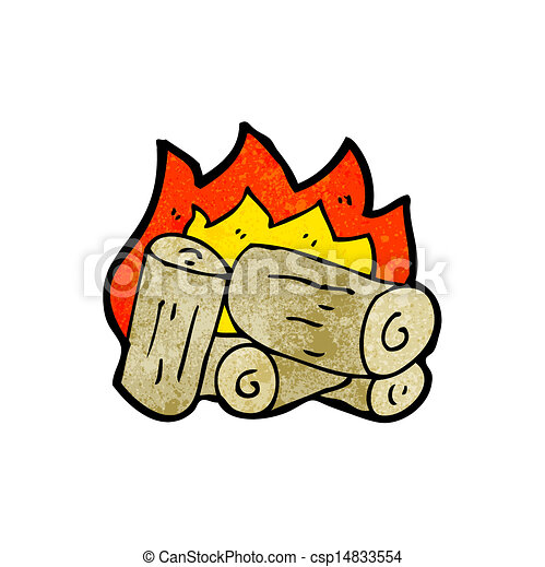 Burning Wood Clipart Clipart Vector of cart...
