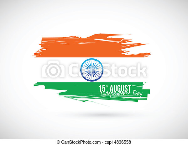 indian flag. independence day design - csp14836558