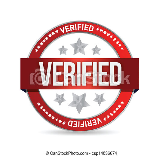 Vectors Illustration of verified seal stamp illustration ...